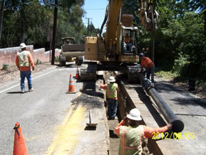 The Montecito Water District has been working to replace miles of water mains in a $15 million project that remains more than 20 miles short of completion. (Mission & State photo)