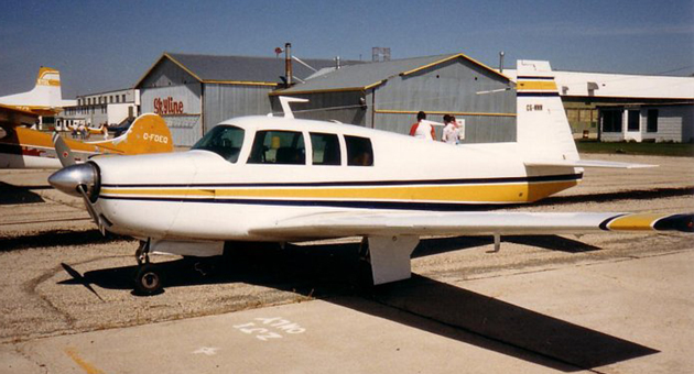 Authorities were searching in Yosemite Wednesday for a Mooney M20F single-engine aircraft, similar to this one, that disappeared Monday on a flight from Santa Ynez to Mammoth Lakes. The pilot was identified as Nicol Wilson of Solvang. (Courtesy photo)