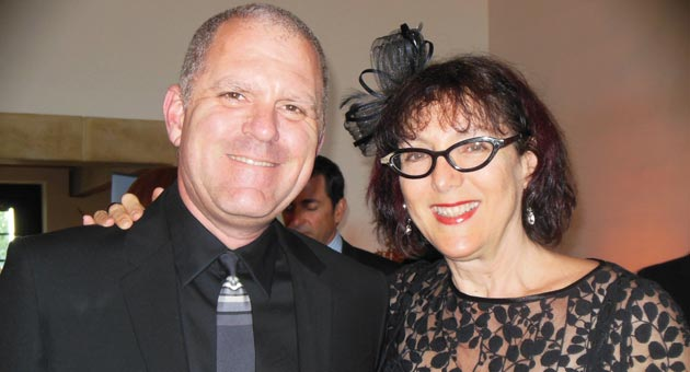 <p>Lynda Weinman and her husband, Bruce Heavin, co-founders of Lynda.com, at UCSB Arts &amp; Lectures&#8217; fundraising gala.</p>