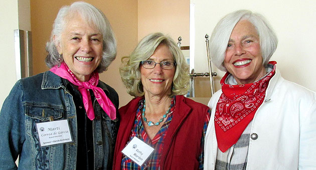 <p>From left, Friendship Center board members Marti Correa-Garcia, Kathy Marden and Sue Adams, the luncheon&#8217;s chairwoman.</p>