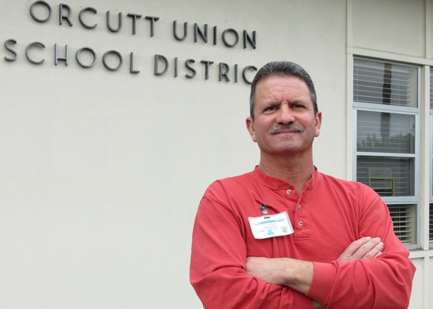 Chris Hurd, who works in the maintenance department of the Orcutt Union School District, was inspired to establish a scholarship in memory of a young girl who died of leukemia. (Gina Potthoff / Noozhawk photo)