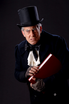 Peter Hadres stars as Ebenezer Scrooge in PCPA Theaterfest's A Christmas Carol.