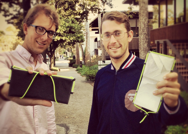Chris Herbert, left, and Christian Smith, founders of local start-up company Phone Halo, have unveiled their new Wallet Trackr device to help people keep track of important personal items. (Contributed photo)
