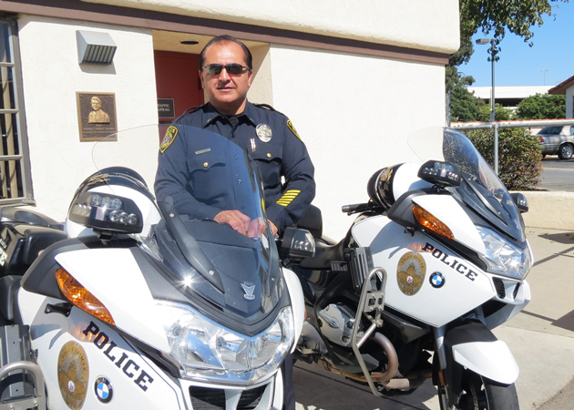 Lt. Rico Flores retired this week from the Santa Maria Police Department after 22 years on the force. (Gina Potthoff / Noozhawk photo)