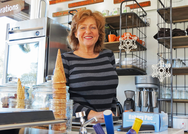 Rori Trovato can enjoy the smiles that her ice cream concoctions bring to her customers' faces now that she has opened a retail store in Montecito. (Gina Potthoff / Noozhawk photo)