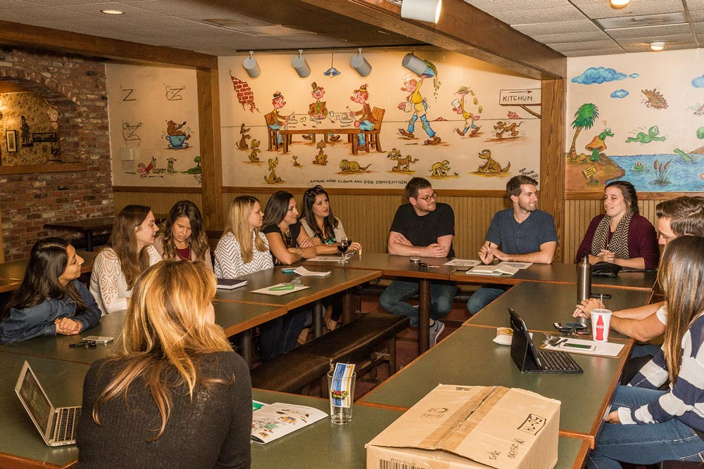 The Rotaract Club of Santa Barbara holds its monthly meeting at Rusty's Pizza on Upper State Street. Supported by local Rotary Clubs, it is designed for young adults 18 to 35 years old.