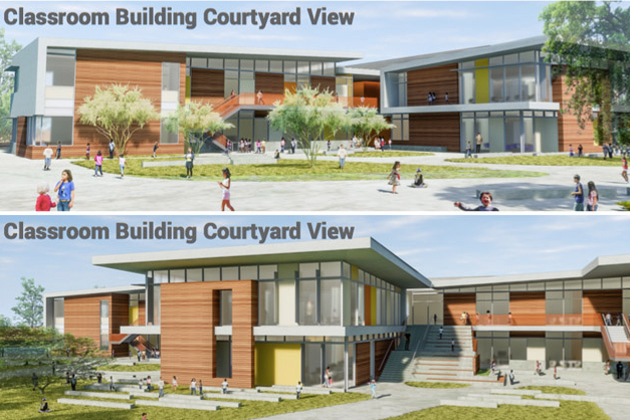 The design for the planned Measure T elementary school in the Santa Maria-Bonita School District that will be built on land in the Enos Ranch development. includes a two-story building.