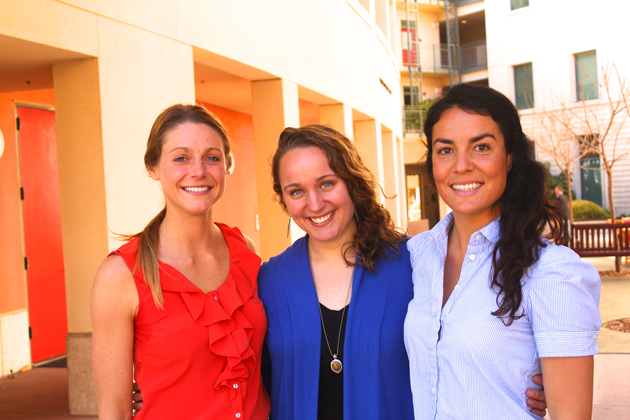 The women behind Salty Girl Seafood include, from left, co-founder Laura Johnson, chief information officer Gina Auriemma and co-founder Norah Eddy. (Salty Girl Seafood photo)