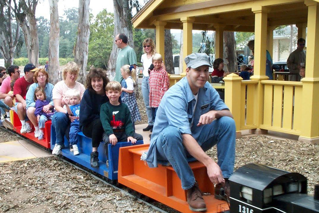 "All aboard the Goleta Short Line! Rides on the South Coast Railroad Museum's miniature train will be free this Father's Day in honor of ""Rotary Day."""