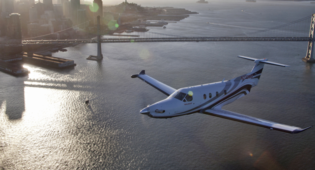 <p>Passengers aboard Surf Air will be able to fly unlimited trips to and from Palo Alto, Monterey, Santa Barbara and Santa Monica on a private, first-class Pilatus eight-seat aircraft.</p>