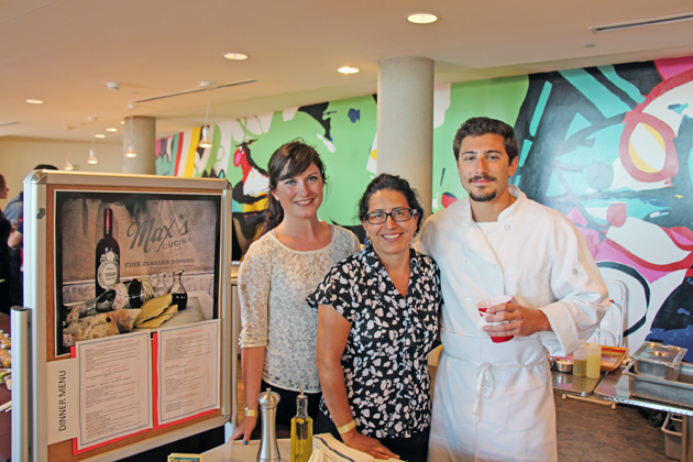 From left, Ellen Lawlor, Henrielta  Forystek and Peter Sagaden from Max's Cucina Restaurant.