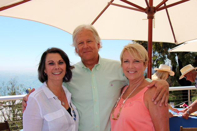 Felicia Sutherland, left, Randy Weiss and Penny Sharrett of Union Bank enjoy an afternoon of food, wine and live entertainment at the Taste of the Vine VIP Reception.