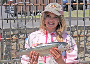 Kylie Bright Of Arroyo Grande Smiles With Her Catch During