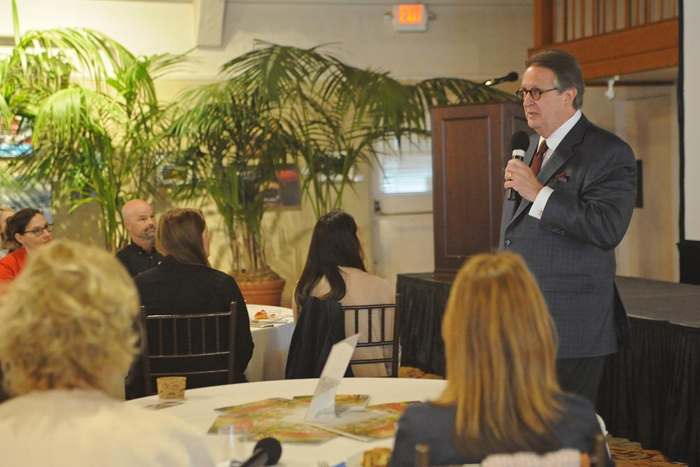 Peter Yesawich of MMGY Global spoke at the 2017 Travel Outlook hosted by Visit Santa Barbara.
