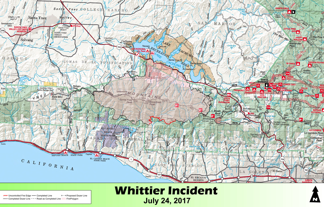 Los Padres National Forest Taking Over Command of Whittier Fire