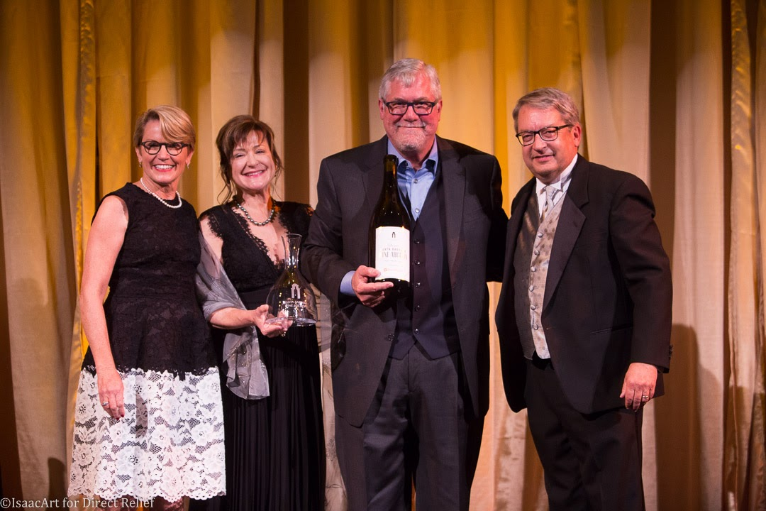 From left, Santa Barbara Vintners' Foundation president Jenny Doré, Louisa and Bob Lindquist, recipients of the Vintner of the Year Award, and Eric Sonquist, Santa Barbara County Vintners' Foundation board member.
