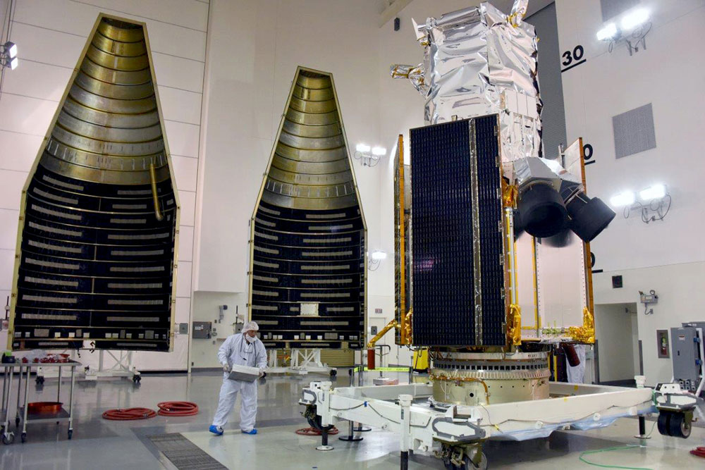 WorldView-4 Satellite Sits Atop Atlas 5 Rocket For Launch