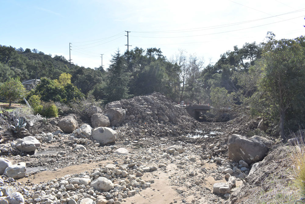 The Santa Barbara County Board of Supervisors approved an urgency ordinance on Tuesday to clear debris from creek channels that run down the hillsides above Montecito to the ocean, and some of those creeks are on private property.