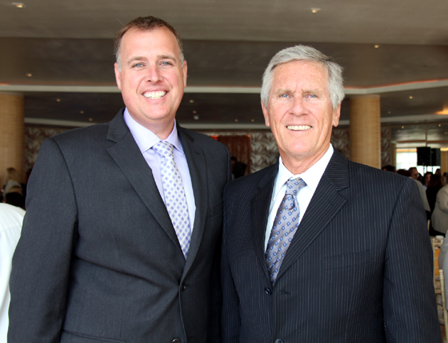 Todd Ryckman, left, and Dave Cash, superintendent of the Santa Barbara Unified School District.