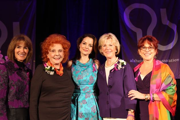 From left, Anne Towbes, co-chairwoman of the Alzheimer's Women's Initiative 'Your Brain Matters' Inaugural Luncheon; Lady Leslie Ridley-Tree, honorary chairwoman; celebrity keynote speaker Kimberly Williams-Paisley; Gerd Jordano, luncheon co-chairwoman; and Rhonda Spiegel, CEO of the Alzheimer's Association California Central Chapter at The Fess Parker.