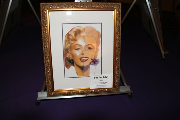 The watercolor painting 'Marilyn' by Fay was a silent auction item.