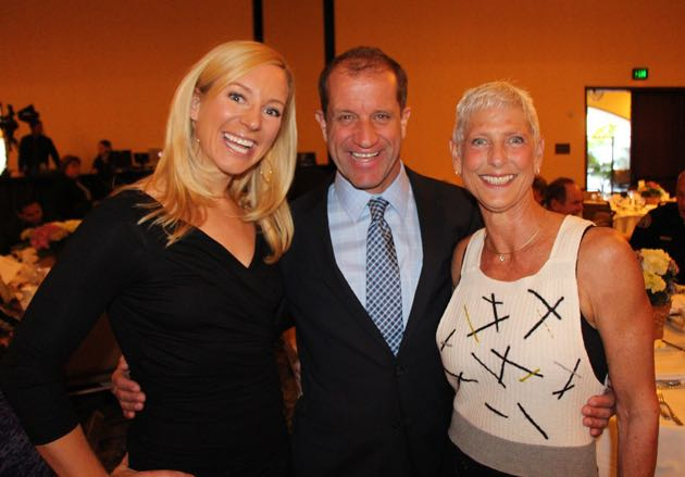 From left, personal trainer Jenny Schatzle, Steven Stowe and Marianne Bartholomew.