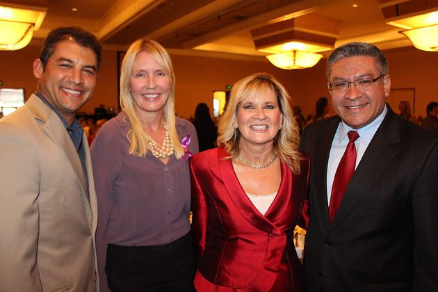 From left, Assemblyman Das Williams, D-Santa Barbara; Danna McGraw; Joanne Funari of The Bank of Santa Barbara; and Santa Barbara County First District Supervisor Salud Carbajal.