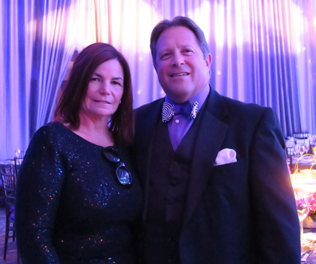 Maria Long, left, director of strategic development for the Council on Alcohol & Drug Abuse, with CADA president and CEO Ed Stonefelt at the 30th annual Amethyst Ball.