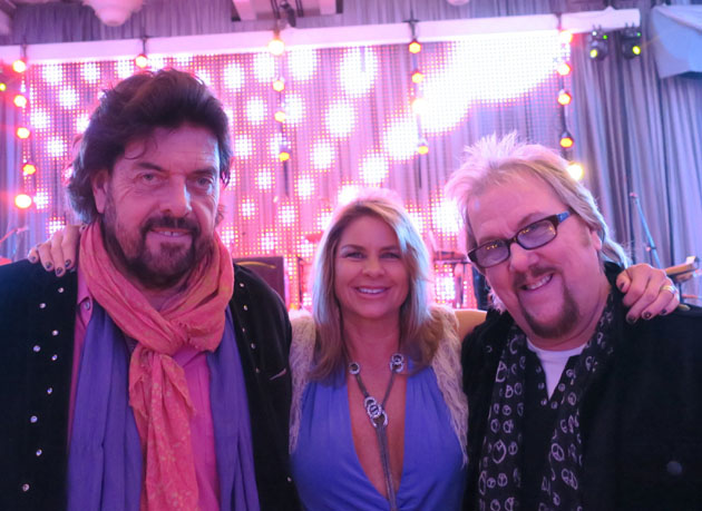 Alan Parsons, left, from the Alan Parsons Live Project, and wife Lisa, honorary chairs of the event, with David Pack from Ambrosia. Both Pack and the Alan Parsons Live Project performed.