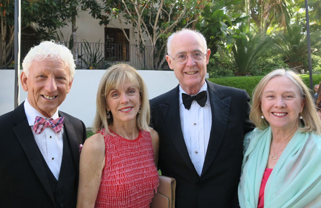 John McCann, left, and wife Janet with Dr. Joe Frawley and wife Katie.