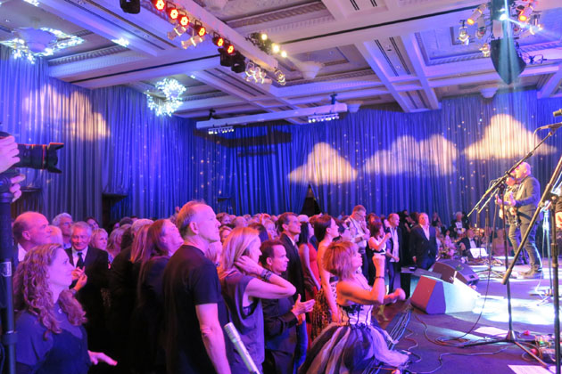 Guests dance to music from the Alan Parsons Live Project.