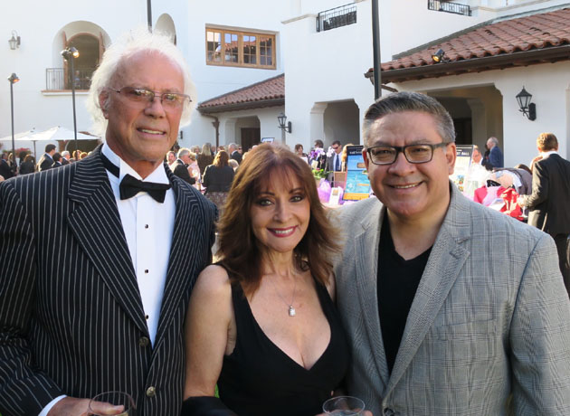 Peter Clark, left, and wife Judy with Santa Barbara County Supervisor Salud Carbajal.