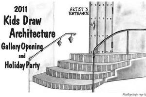 12-year-old Alisa Egecioglo designed the poster for Kids Draw Architecture's 2011 exhibition.