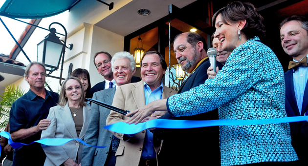 <p>The Bank of Santa Barbara CEO Eloy Ortega and Goleta Mayor Roger Aceves, joined by various civic leaders, cut the ribbon outside the bank&#8217;s new Goleta location on Wednesday.</p>