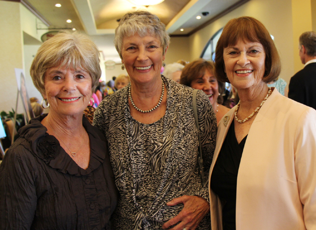 CALM Celebrity Authors Luncheon founding co-chair Sharon Bifano, left, Eve Bernstein and Susan Miles Gulbransen.