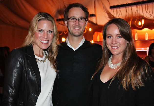 Rob Stelling, center, with Jennifer Zacharis, left, and Samantha Jessup of JZPR.