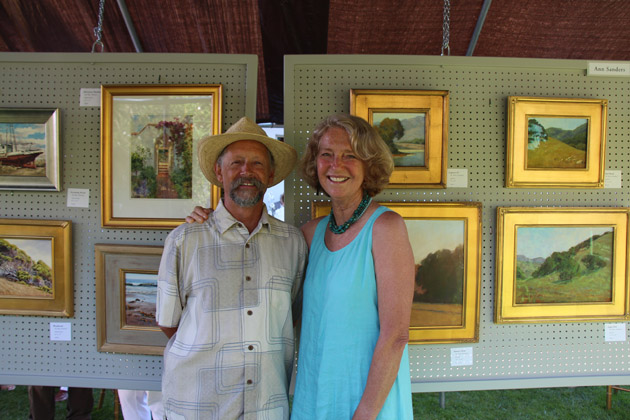 Plein artists Ray Hunter and Ann Sanders.