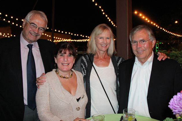 Dr. William Arnett, right, and Supervisor Janet Wolf with Anne and Bob Patterson.