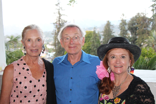 Prudence Squier, left, Steve Sparklin and Linda van der Wyk.