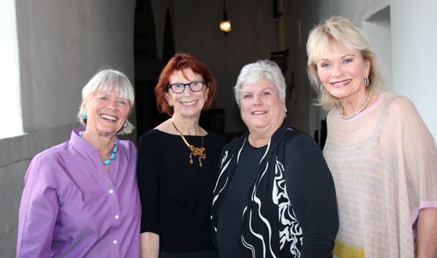 From left, Joanne Rapp, Lylie Francis, CLF trustee Alice Van de Water and  Sharol Siemens.