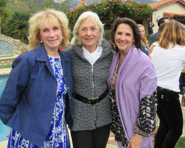 Pat Mitchell, left, Helga Morris and Beth Green.