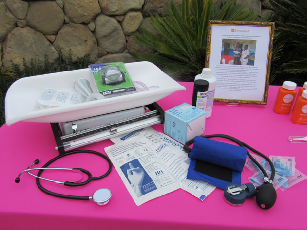 Some of the supplies in a midwife kit assembled by Direct Relief.
