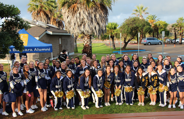 Dos Pueblos Chargers cheerleaders came out to support DVS.