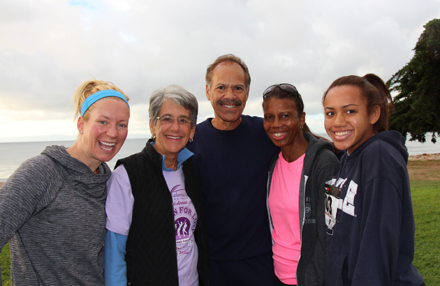 From left, Jenny Schatzle, special guest speaker, state Sen. Hannah–Beth Jackson, DVS Executive Director Charles Anderson and his wife, Geri, and 16-year-old daughter, Briana.