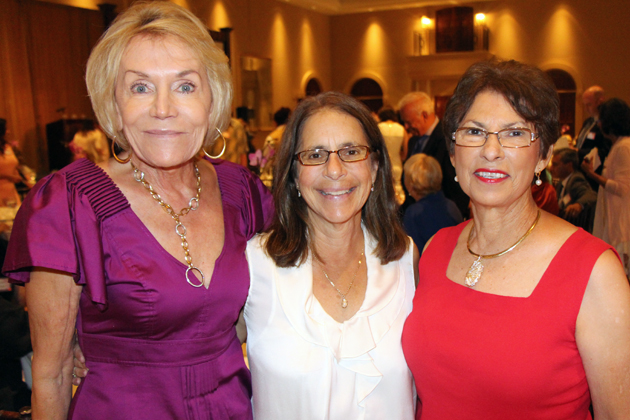 Jill Dexter, left, Martha Hight and Gail Landu.