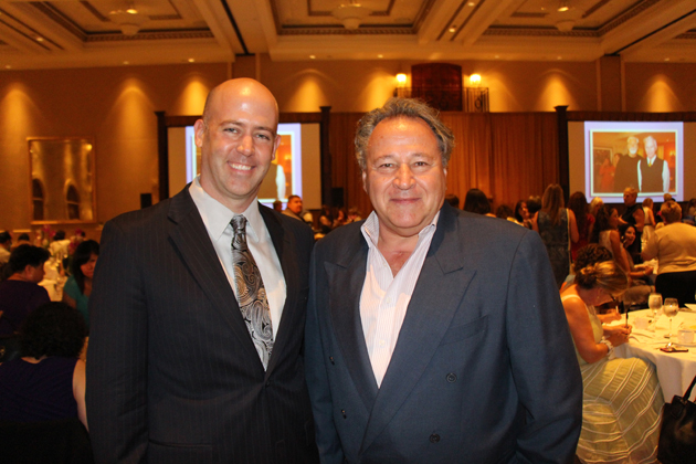 The Fund of Santa Barbara Executive Director Geoff Green, left, with Jim Melillo.