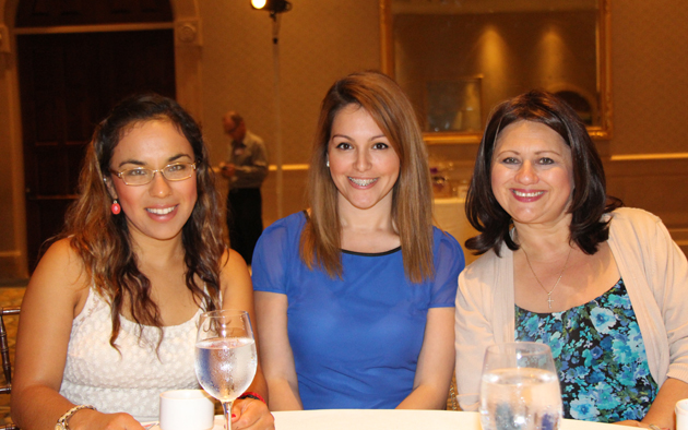 Marissa Alvarado, left, Reyna Kaufman and Kathy Frausto.
