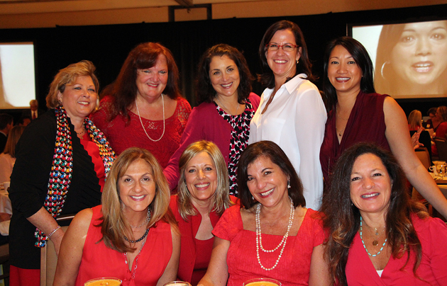 Ladies representing Venoco Inc., proud supporter of Go Red for Women.