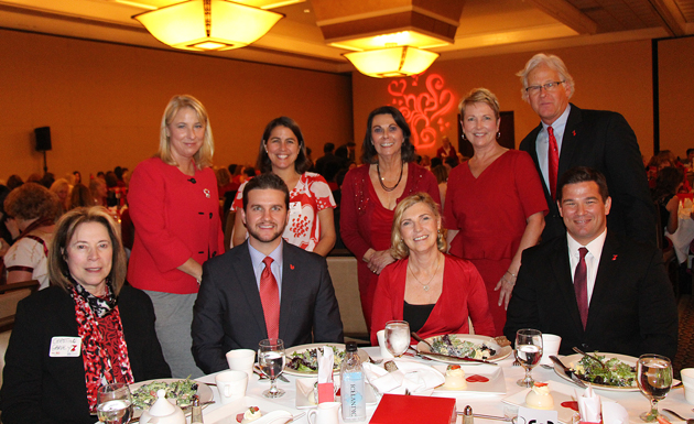 Guests and representatives from Union Bank, presenting sponsor of the Go Red for Women luncheon.