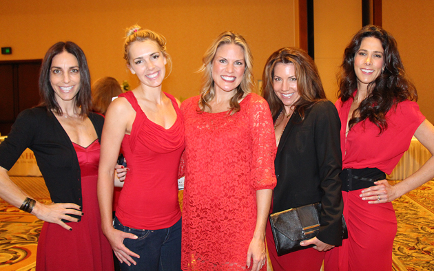 From left, Meredith Reeback, Nora Tobin, Go Red Executive Committee member Jennifer Zacharias, Sydney Gardner and Asha DeMarco.